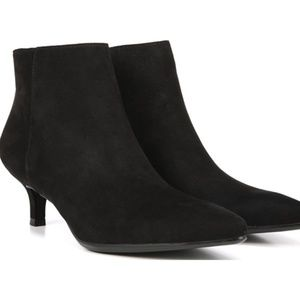 Naturalizer Black Suede Ankle Giselle Booties